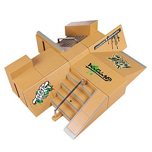TAIlF Fingerboard Ramp Mini Finger Skateboard Rail Free Combination Parts  Material: High-quality ABS, so light and handy, good for your fingerboards  Size: 19 * 11.6 * 3.2 inches  We supply 2 pcs free fingerboard (Color random)  Just train your fingers in your spare time  Great gift for your kids and they will never be lonely with this new fingerboard set