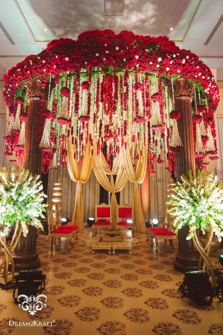 Wedding mandap decoration ideas   best Wedding decore images on Pinterest  Birthdays Ideas para
