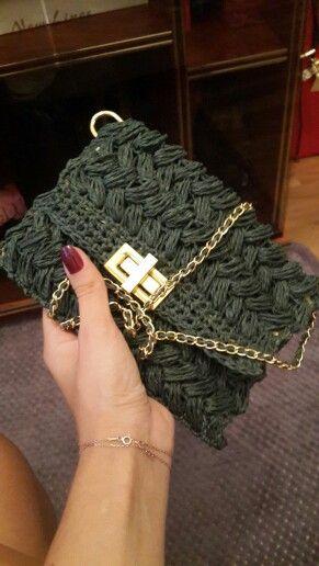 #Sipariş #çanta #el #örgüsü #yeşil