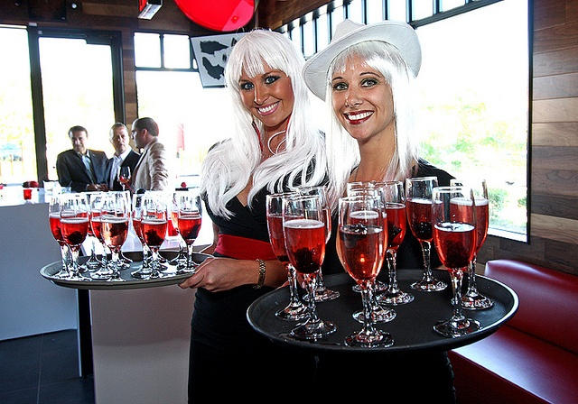 Welcome to the party! Champagne with Red Hibiscus! by Houston Avenue Bar & Grill, via Flickr