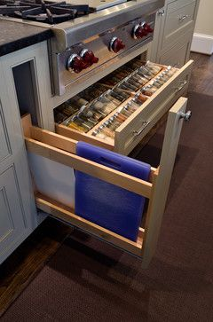 Cutting board drawer. Similar design good for cookie sheets, etc.