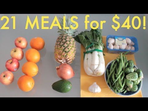 21 VEGAN Meals, $40: Grocery Shopping for One