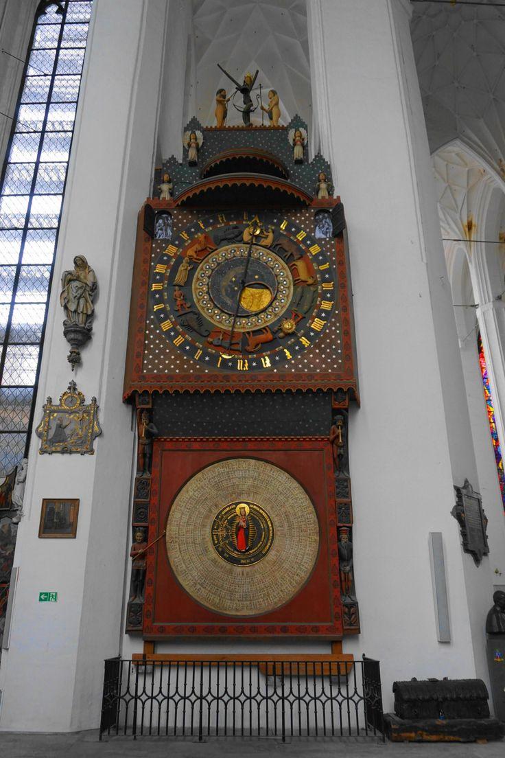 Gdańsk astronomical clock, inside St. Mary's Church
