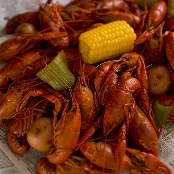 Easy Boiled Crawfish- so easy you can bring the boil indoors! This scaled-down #crawfishboil recipe could easily be prepared right in your kitchen!