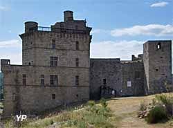 Château de Portes Construit au sommet d'un col à 600m d'altitude, au bord du chemin qui était la route de pèlerinage de Saint-Gilles,gard