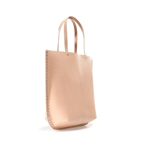 Zara CALF SKIN SHOPPER