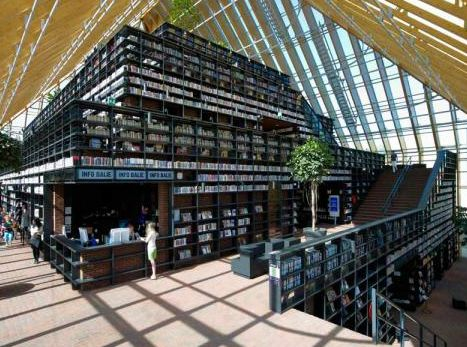 """Wow! Library Design: The """"Book Mountain"""" Library Opens Today in the Netherlands"""