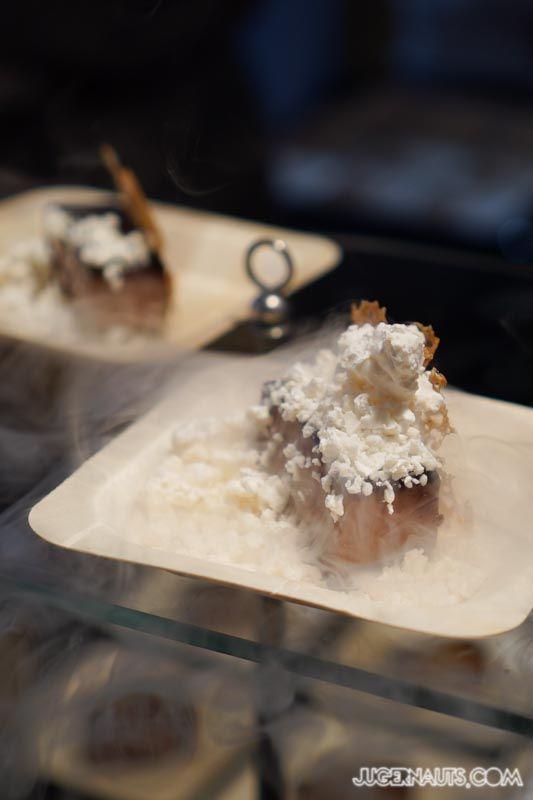 Chocolate Delice, Frozen Creme Anglaise, Rye Tuille   JustDesserts MarchintoMerivale - Merivale Establishment