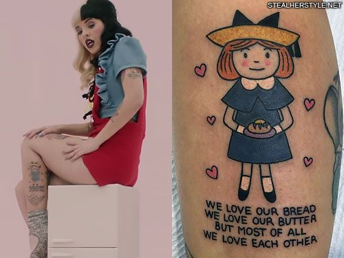Melanie Martinez's 35 Tattoos & Meanings | Steal Her Style