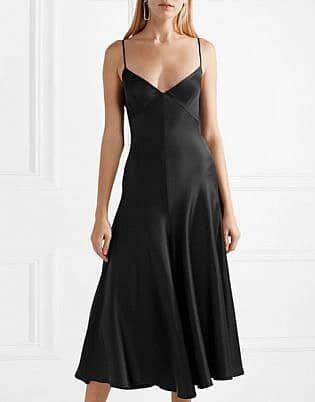 a09a870dadc A Guide to Women s Dress Codes for All Occasions - The Trend Spotter.  Carolina satin-crepe midi dress