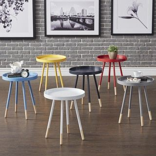 Shop for Marcella Paint-dipped Round Spindle Tray-top Side Table by MID-CENTURY LIVING. Get free shipping at Overstock.com - Your Online Furniture Outlet Store! Get 5% in rewards with Club O! - 18534802