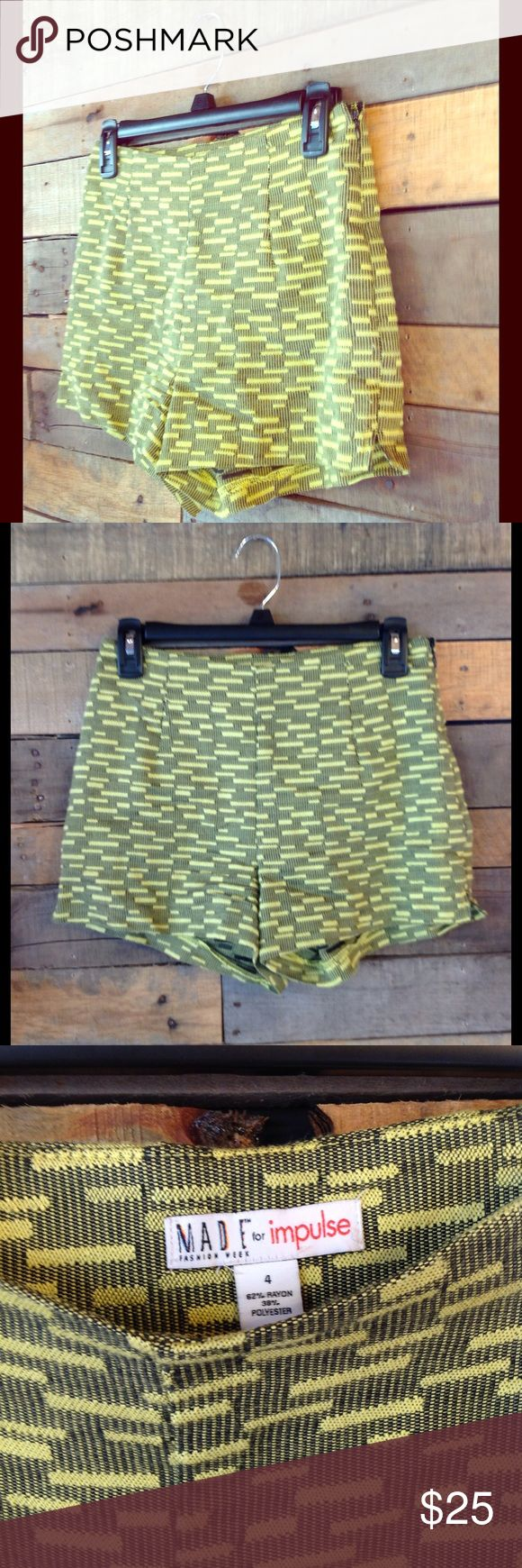 """Macy's Neon Yellow Shorts neon yellow 