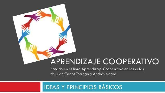 IDEAS Y PRINCIPIOS BÁSICOS APRENDIZAJE COOPERATIVO Basado en el libro Aprendizaje Cooperativo en las aulas, de Juan Carlos...