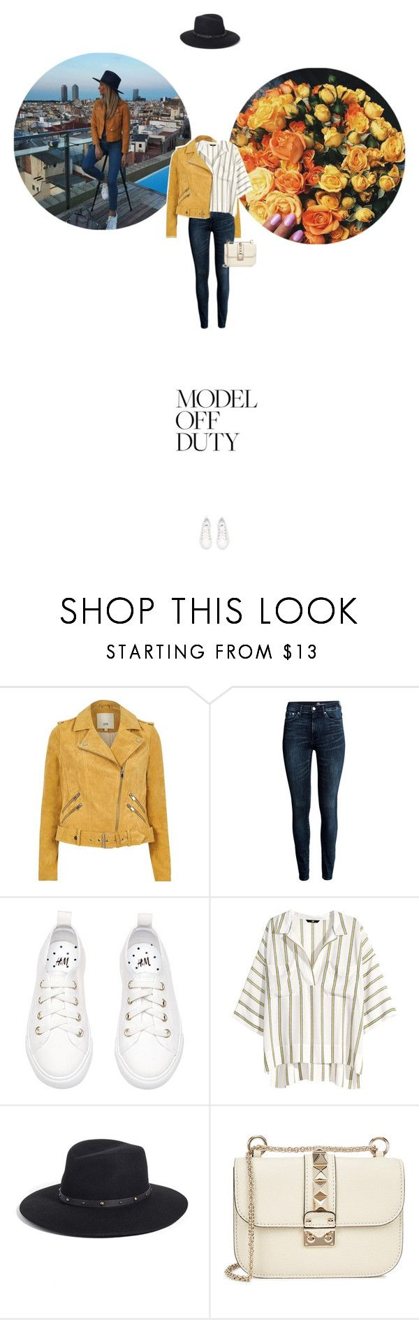 // 1329. It-Girl: Model Off Duty. by lilymcenvy on Polyvore featuring H&M, River Island, Valentino, Eric Javits and modeloffduty