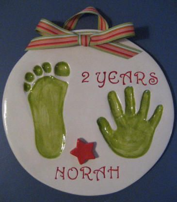 Cutie Pies Clay Print Keepsakes - Custom Ceramic Handprints of Infants and Children