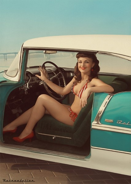 Pinup: Classic Cars, Pinupgirls, Pinups, Car Pinup, Pinup Girls, Pin Ups, Pinup Vintage, Pin Up Girls