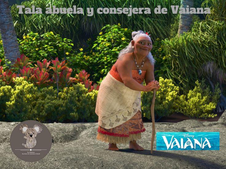Tala es la abuela de Vaiana, le ayuda para que cumpla el sueño de cruzar el arrecife. #vaiana #evarubiano @evarubiano #cineparaniños #estrenos