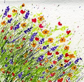 How to make a Splattered Paint Card on watercolor paper from myflowerjournal.com. An easy project for kids and adults.