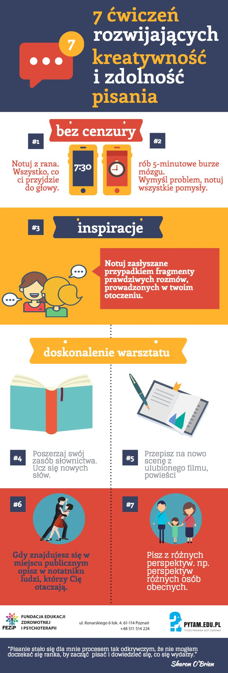 7 ćwiczeń rozwijających zdolnosć pisania