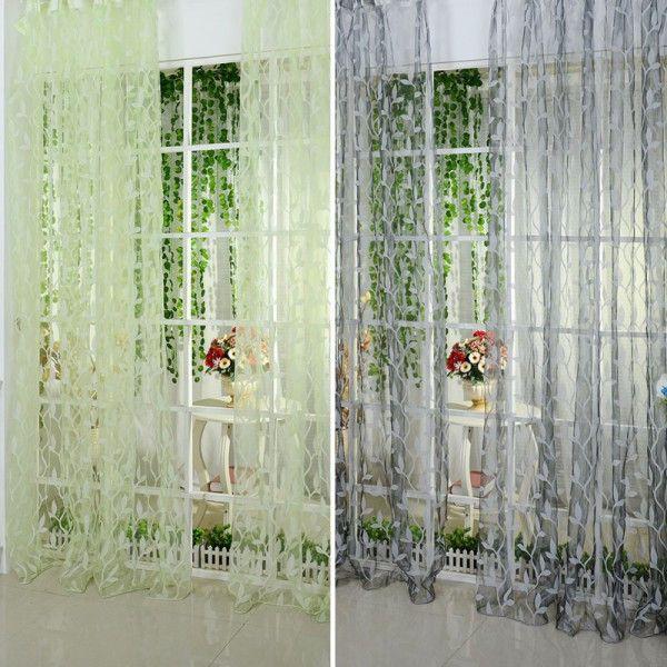 Leaf Type Window Curtain