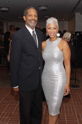 Jim Bridges, Janice Cosby Bridges - she is 56 is FABULOUS - i love her hair and what about that dress!!! YES!!!!