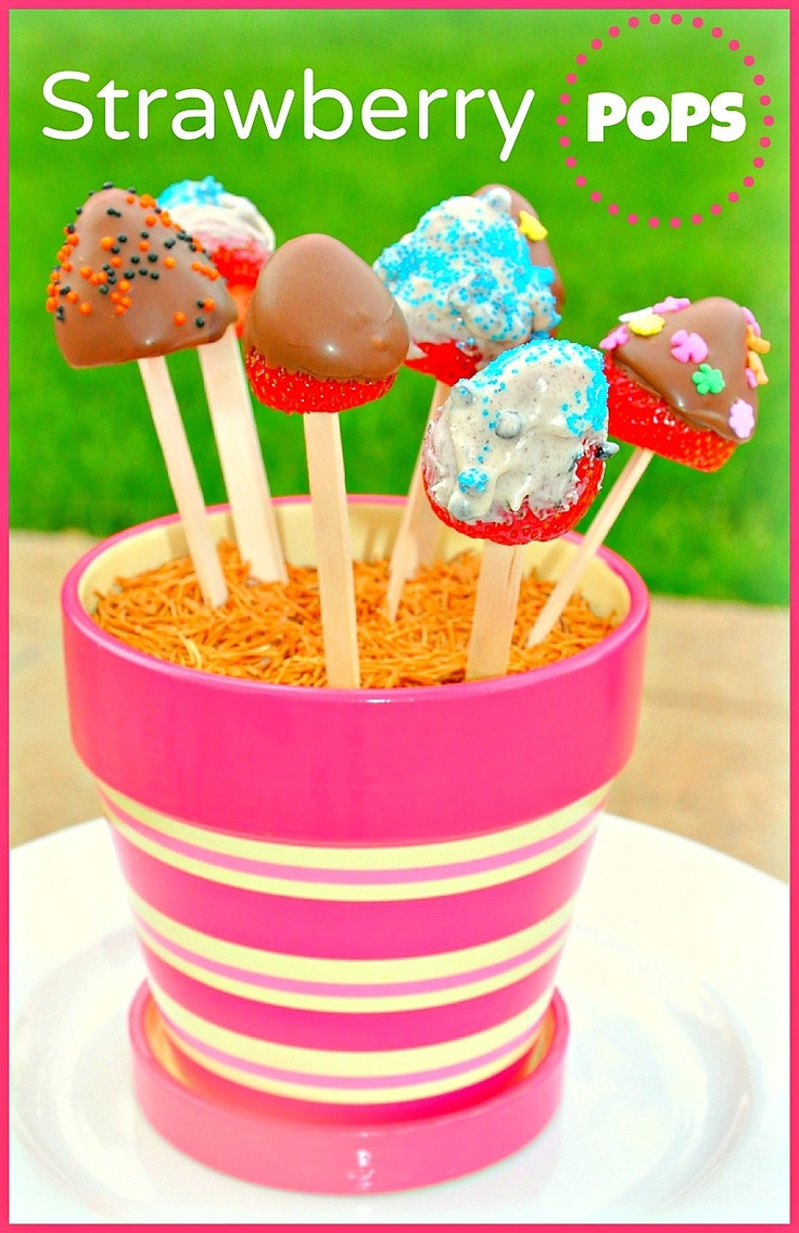 Strawberry Pops – Easy, Kid- friendly and Elegant dessert. #summer party ideas # strawberry desserts #kid friendly recipes
