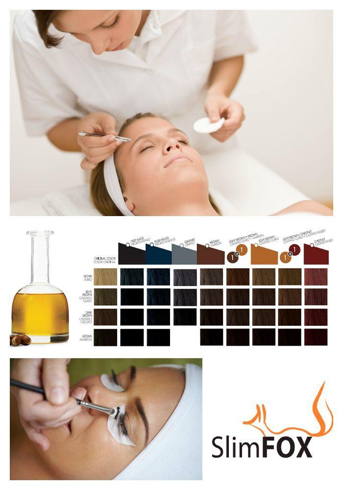 NOVINKA: Používáme inovovanou formuli barev na řasy a obočí obohacenou arganovým olejem a keratinem. Jednotlivé odstíny těchto barev můžeme mezi sebou míchat a docílit tak finálního odstínu, který skvěle koresponduje s barvou Vašich vlasů.