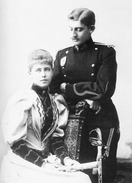 The official photo of the engagement of Princess Marie of Edinburg and Crown Prince Ferdinand of Romania.