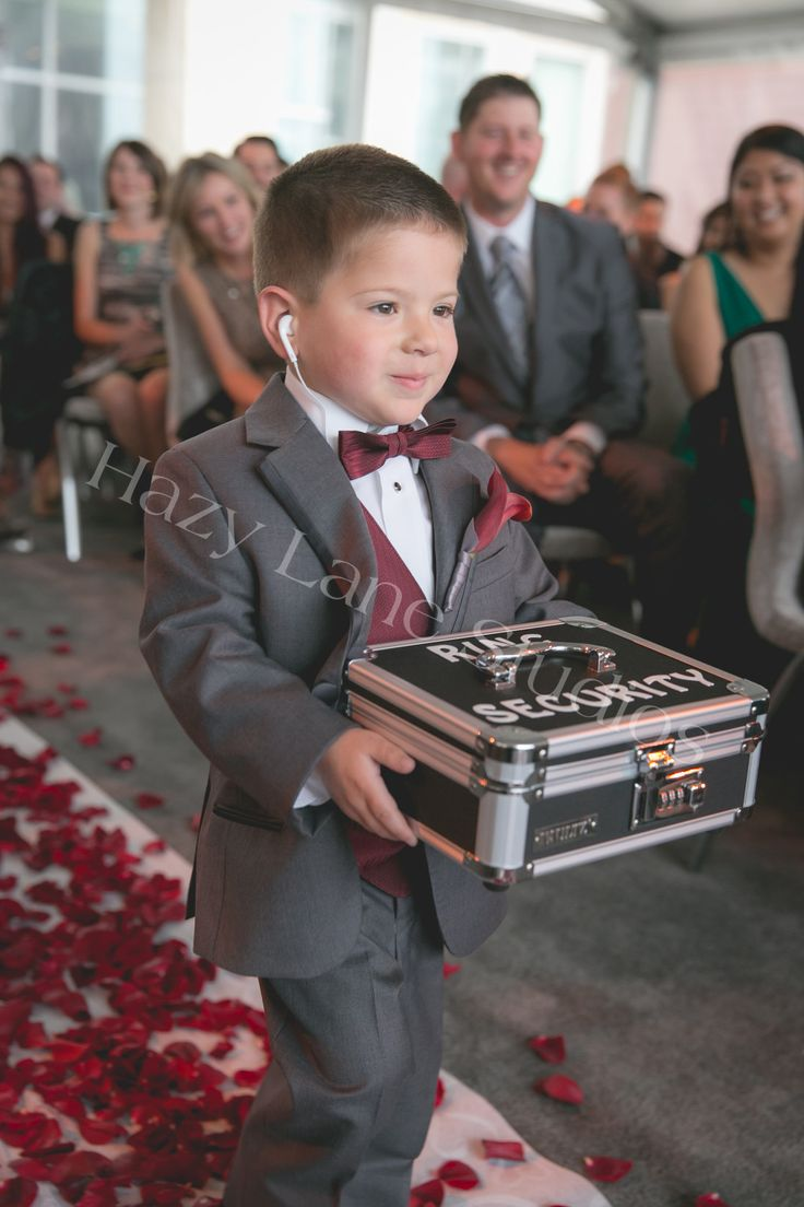 ring security ring bearer wedding day ceremony fun