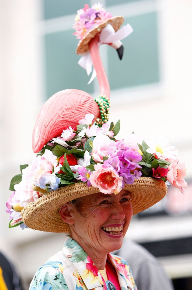 delightfully crazy Kentucky Derby hat - Yahoo! News