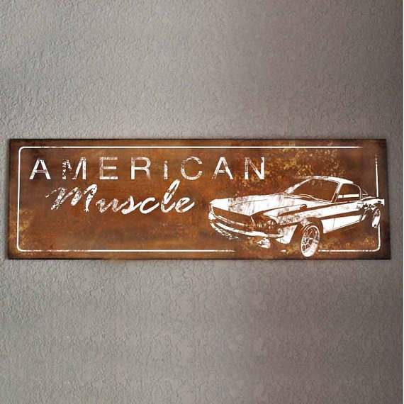 Metal American Muscle Car Sign by rewined on Etsy, $45.00