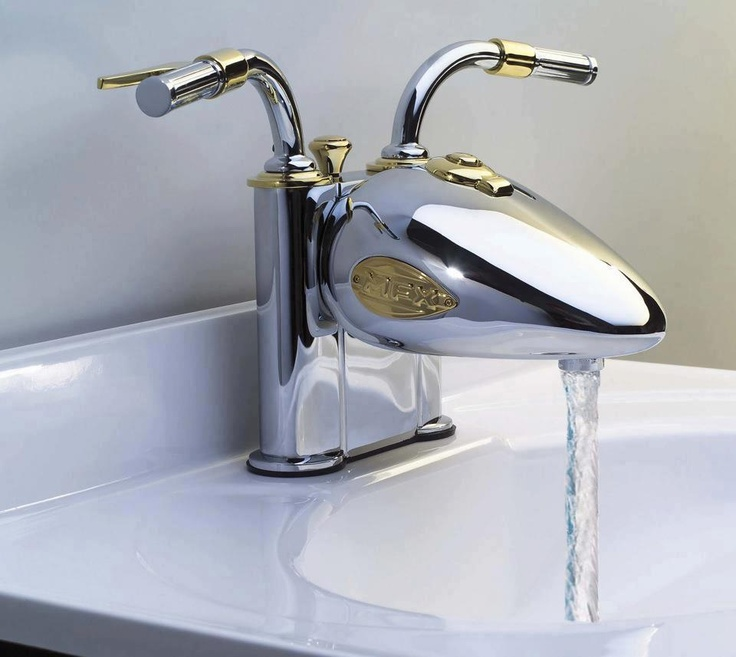 Coolest Kitchen Faucets: Motorcycle Handlebars & Fuel Tank For A Faucet...yes