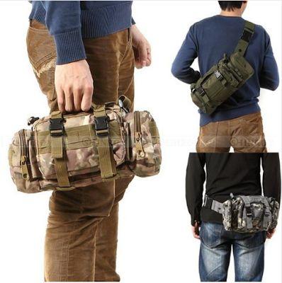 Сумки, рюкзаки, портфели, кошельки, клатчи, бумажники, ремни.: Китайский посылторг: VKTECH 91838. Тактическая, военная, спортивная сумка из непромокаемой ткани Оксфорд 600D. Сумка талии, рюкзак, мешок.