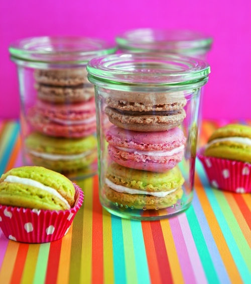 Macarons in a jar