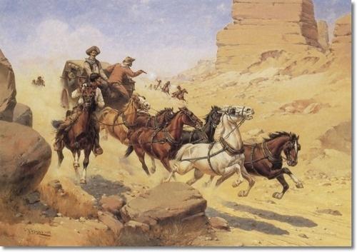 Oil Painting, Western Art, Jim Rozzi Wells Fargo ...  |Large Western Stagecoach Art