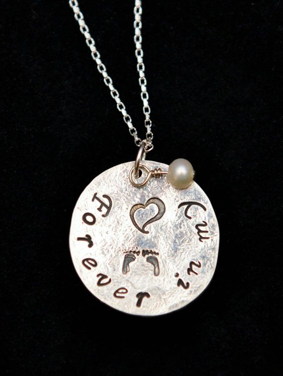 Silver Forever In My Heart Pendant Memorial Necklace on a Sterling Silver - Get 10% OFF with coupon code PINIT when purchasing on Etsy