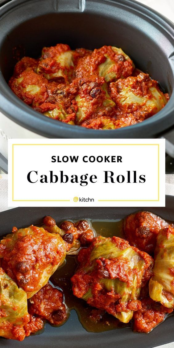 Slow Cooker Stuffed Cabbage Rolls Vegan Recipes Cabbage