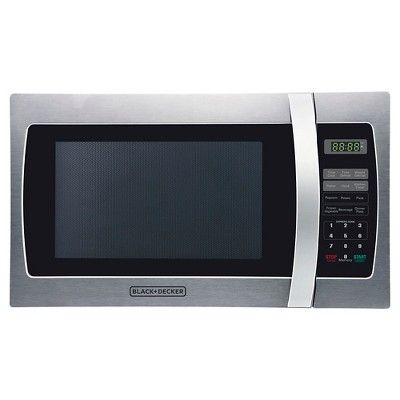 Black+decker 1.3 Cu. Ft. 1000 Watt Microwave Oven, Silver