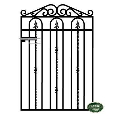 Windsor Wrought Iron Garden Gate from Cannock Gates