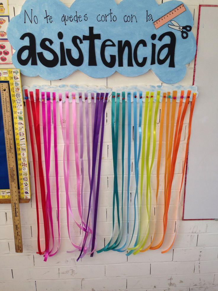 Cortas 5 cms del metro de liston de cada alumno que falte a la escuela, el niño que tenga el metro al final del mes, gana recompensa