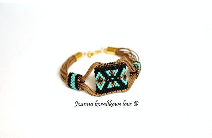 Bracelet peyote bading jewelry bransoleta