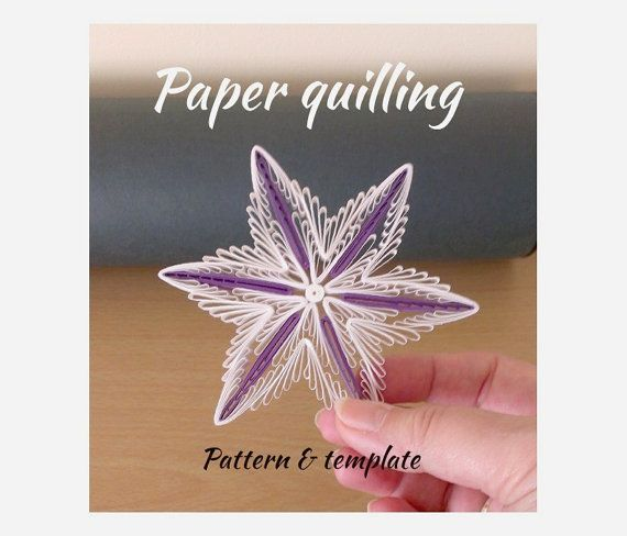 Opening sale - 70% off - Quilling Tutorial / pattern (QD11) - DIY, PDF, Instant download