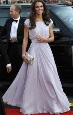 Vintage Chiffon A-line Boatneck Cap Sleeves Empire Floor Length Formal Dress http://www.kissyaustralia.com/red-carpet-celebrity-dresses