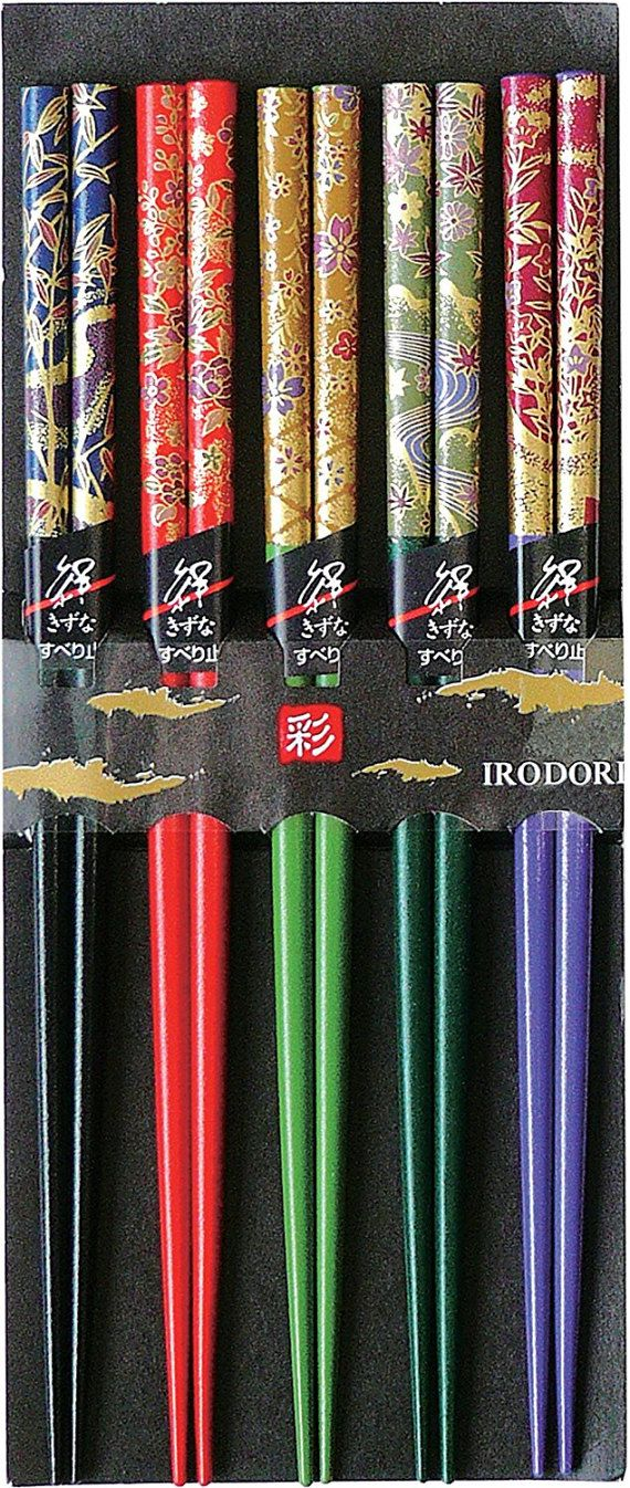 Japanese Traditional Chopstick Set of 5 - 箸  - Lacquerware Chopstick Set