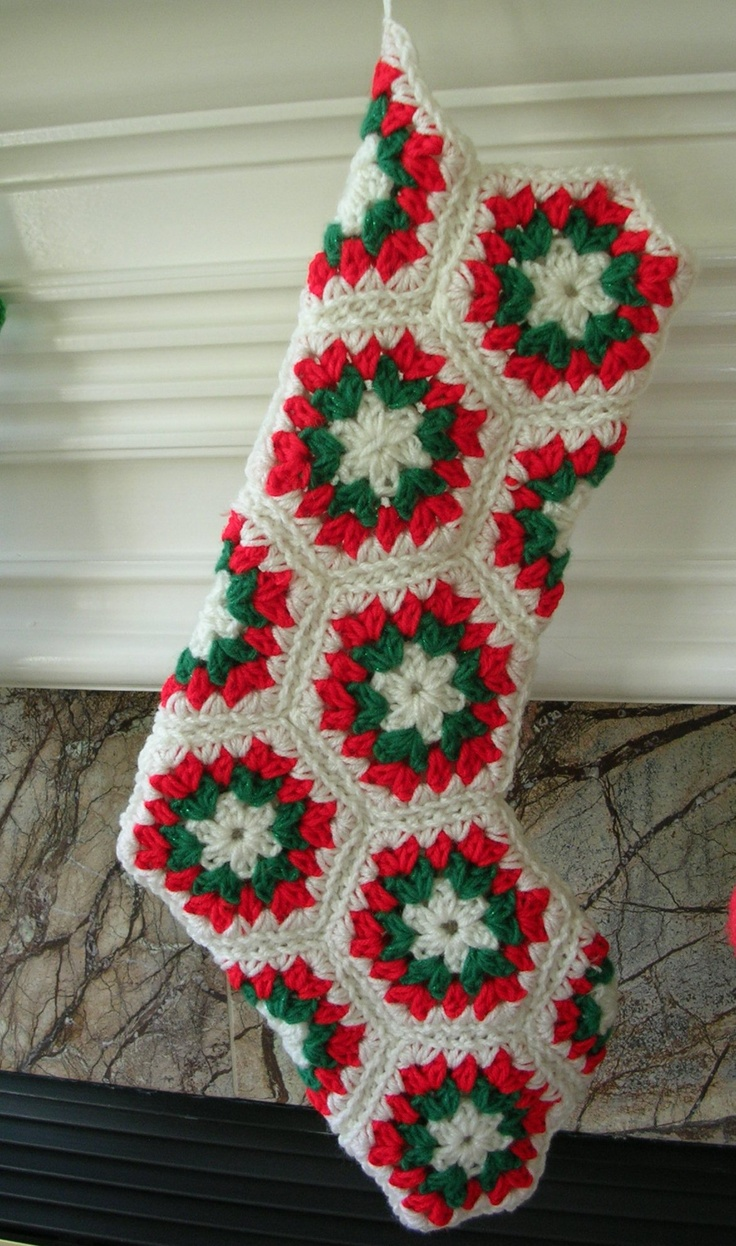 Crochet Christmas Stocking Bernoullisattic Craft Cafe