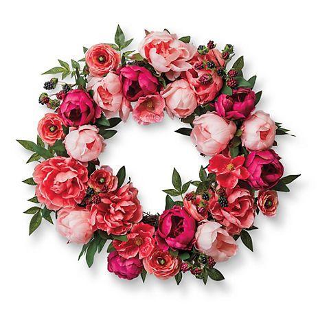 Pink Peony & Raspberry Wreath