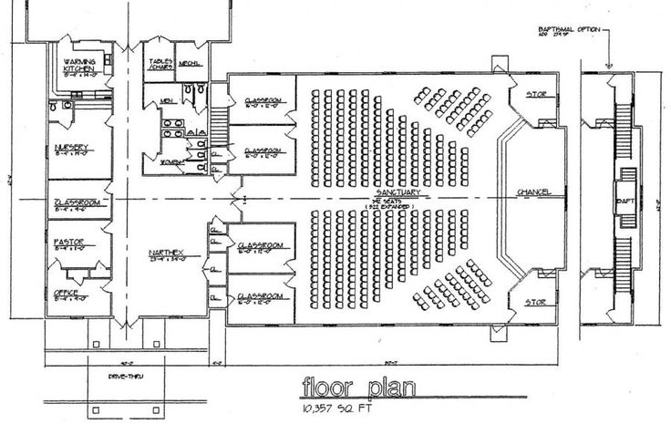 Simple Church Building Plans   Church Plan #120   LTH Steel Structures