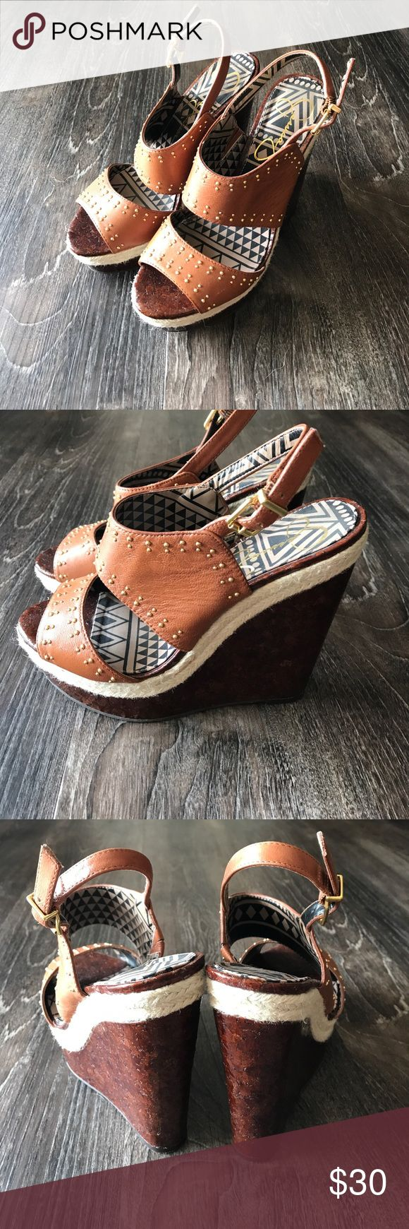 Jessica Simpson wedges Jessica Simpson brown wedges size 8. Only worn to 2 occasions. Jessica Simpson Shoes Wedges