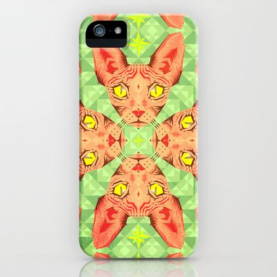Sphynx Cat Pattern iPhone & iPod Case by chobopop - $35.00