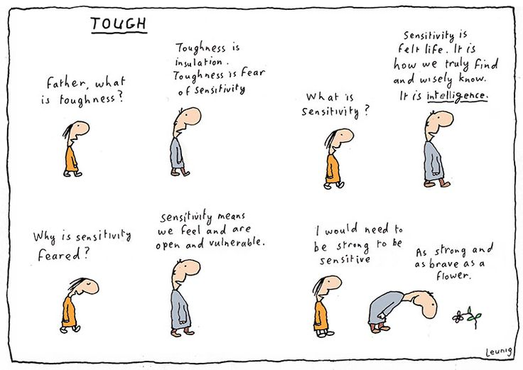 Sensitive and Strong. Michael Leunig
